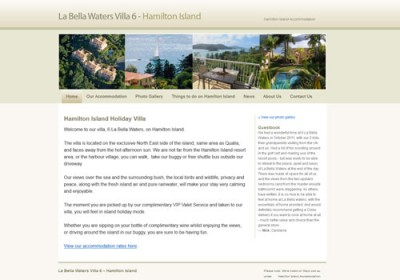 La Bella Waters Hamiltion Island Accommodation